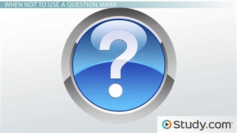 Question Mark Definition Use Video Lesson