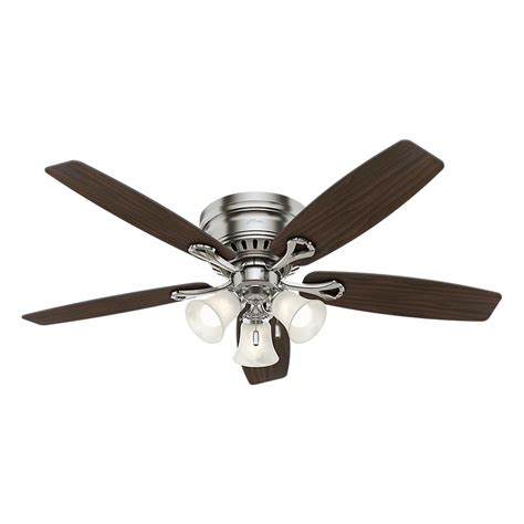 hunter 52 winslow brushed nickel ceiling fan hunter oakhurst 52 in led indoor low profile brushed