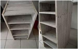 Petit Meuble En Bois : petit meuble en palette jeux de mains ~ Teatrodelosmanantiales.com Idées de Décoration