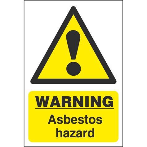 asbestos hazard warning signs chemical hazards workplace