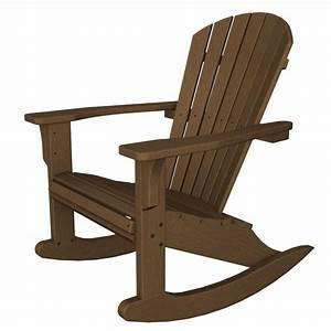 Polywood Seashell Rocking Chair, Adirondack Rocking Chair
