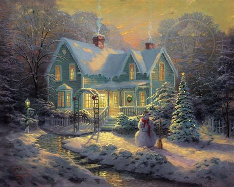 kinkade cottage painting blessings of limited edition