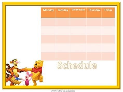 printable weekly calendar