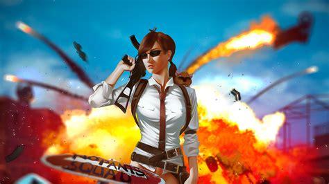 pubg gun girl  hd games  wallpapers images