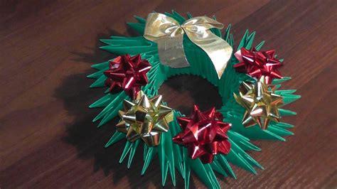 origami christmas wreath tutorial youtube