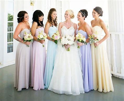 pastel color bridesmaid dresses 25 best ideas about pastel bridesmaid dresses on