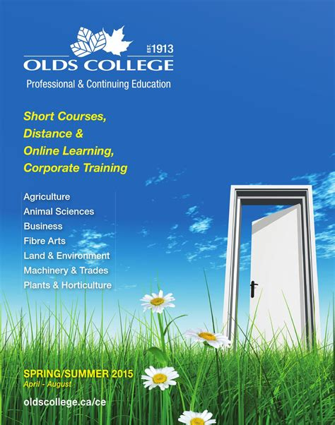 olds college continuing education spring summer calendar