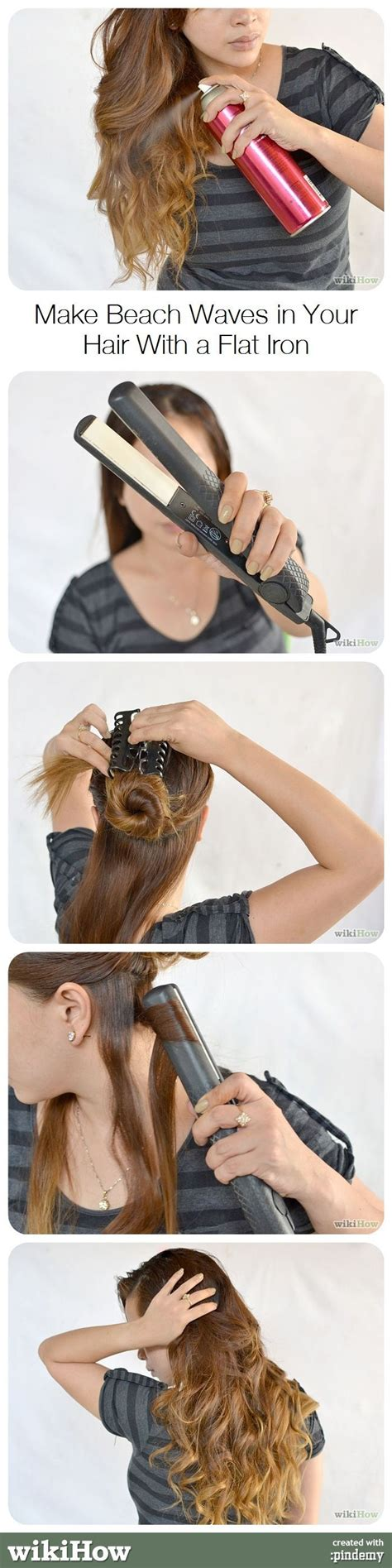 style hair with flat iron make waves in your hair with a flat iron wavy 3142