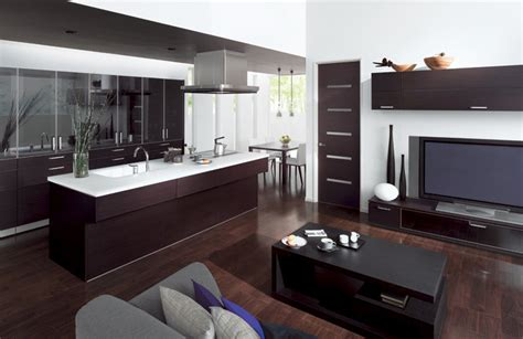 kitchen livingroom combine kitchen and living room with cuisia by toto digsdigs