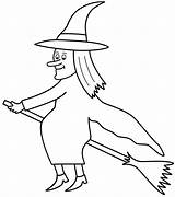 Coloring Broom Witches Halloween Witch Broomstick Hexe Ausmalbilder Flying Spider Cat Templates Zum Drucken Template Konabeun Magic Adults Flamingo Ride sketch template