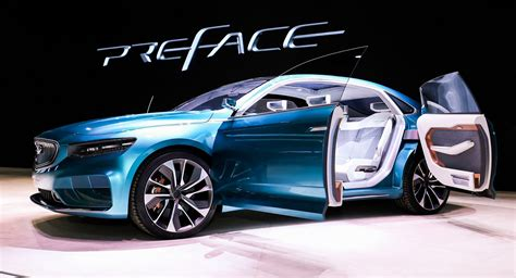 geely preface concept dresses volvo platform   stylish