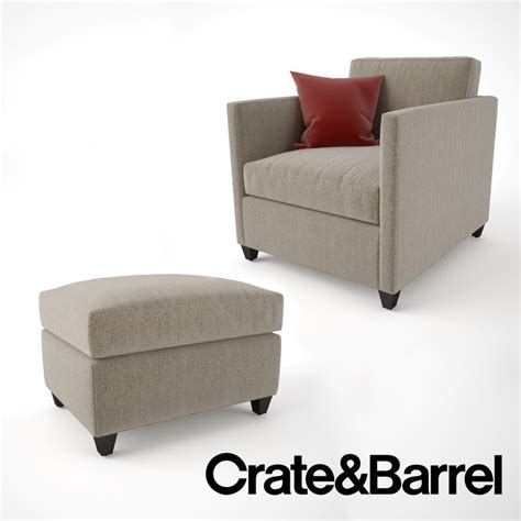 crate and barrel lounge sofa ottoman 3ds max crate barrel dryden chair ottoman