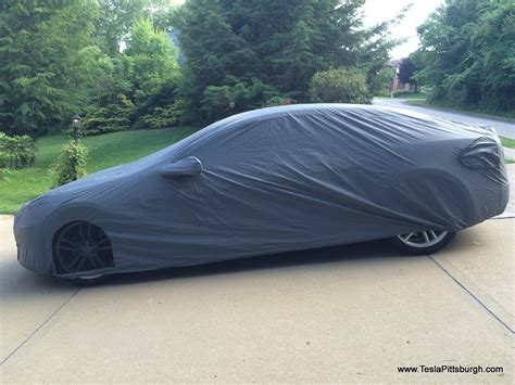 Covered Car by Review Tesla Model S Car Cover For Both Indoor And
