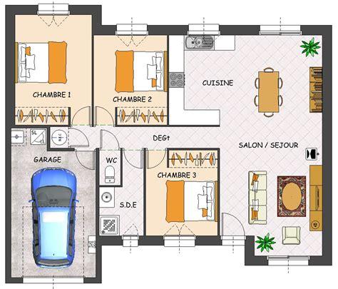 plan de maison plain pied avec garage construction maison neuve laurier lamotte maisons individuelles