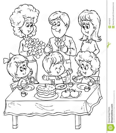 birthday party stock illustration image  mood festive