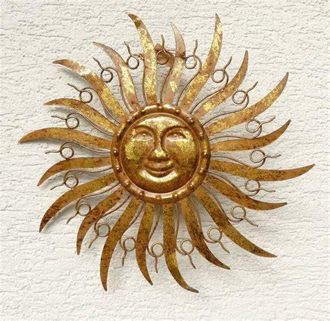 metall sonne für hauswand sonne metall braun gold wanddekoration wandbild gartendeko 48 cm ebay