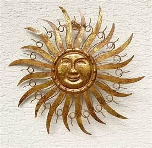 Metall Sonne Für Hauswand : sonne metall braun gold wanddekoration wandbild gartendeko 48 cm ebay ~ Whattoseeinmadrid.com Haus und Dekorationen