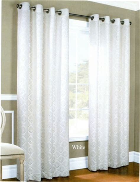 Annas Linens Curtain Rods by Insulated Lace Grommet Curtain Panels