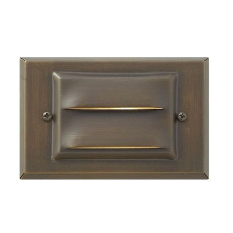 hinkley lighting matte bronze recessed led outdoor deck