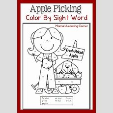 Free Color Sight Word Apple Themed Pages  Free Homeschool Deals