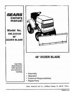Sears Compact Loader 486 24412 User Guide
