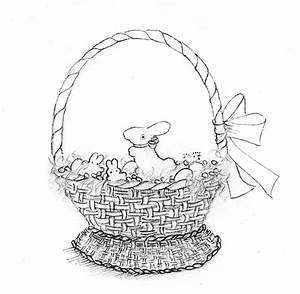 How to Draw and Paint a Treat-Filled Easter Basket