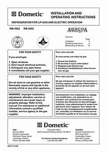 Dometic Rm2852 User Manual