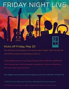 Live Music Event Flyer Poster Template Conc On In Abstract ...