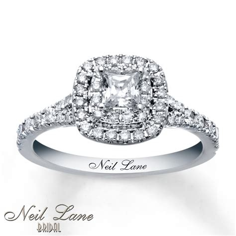 jewelers engagement rings neil engagement ring 1 ct tw diamonds 14k white gold