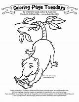 Possum Coloring Colouring Dirty Dog Harry Pages Drawing Reading Printable Sheet Getcoloringpages Getdrawings Tree Popular Cute Getcolorings Dulemba sketch template