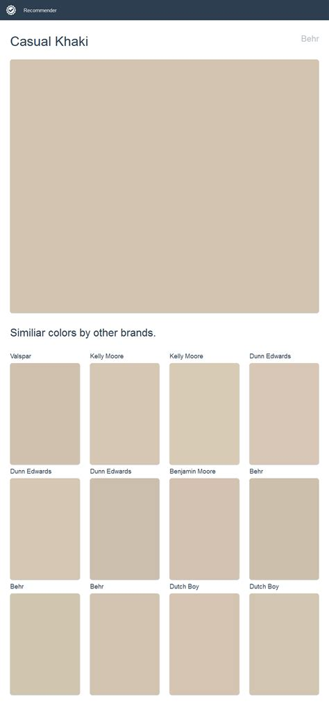 casual khaki behr click the image to see similiar colors