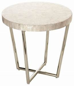 mosaic side table in capiz seashell contemporary side With capiz round drum coffee table