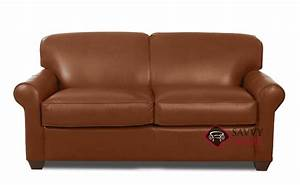 Quick ship calgary leather full in steamboat chestnut by for Leather sectional sofa calgary