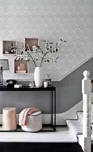 peinture couloir deco pinterest With quelle couleur avec gris anthracite 11 papier peint pour couloir comment faire le bon choix