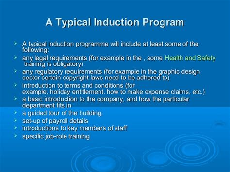 pack and play set play induction process for employees