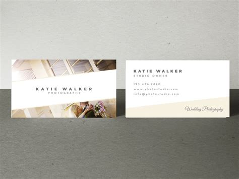 bliss wedding photography business card template mockaroon