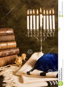 prayer shawl and hanukkah stock photo image of candle