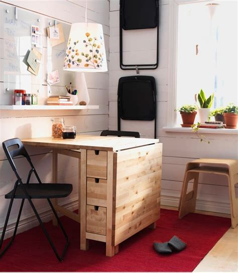 how to have a desk in a small bedroom fold norden gateleg table up when you have friends over