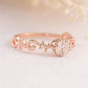 Bridal Set Morganite Engagement Ring Rose Gold Diamond ...