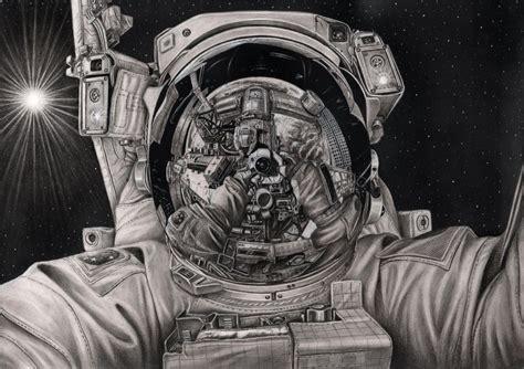 astronaut in space drawing pen tacular artist raj deviantart