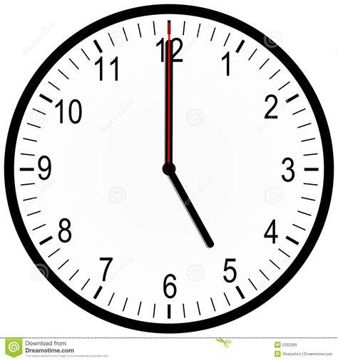 horloge de bureau horloge de bureau 5 heures illustration stock