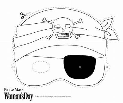 Masks Printable Face Mask Halloween Pirate Templates