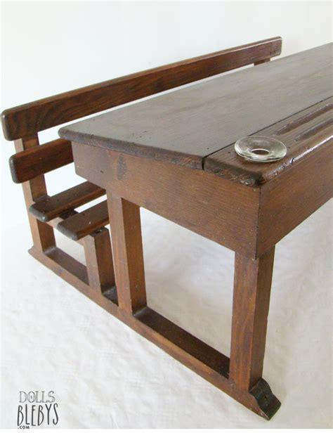 bureau pupitre pupitre bois vintage avec encriers grand modèle pour