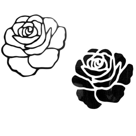 DIY 3D Rose Shape Art Decal Home Background Decoration PVC Wall Stickers F7