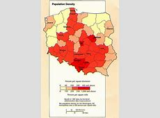 Poland Population Density Map Poland • mappery