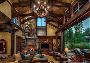 mountain homes interiors stunning cabin retreat brings rustic texan charm to lake tahoe