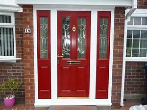 Red Front Door as Surprising Door Design for Modern Home