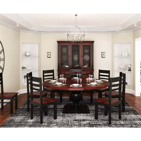 illinois modern  tone solid wood  piece  dining