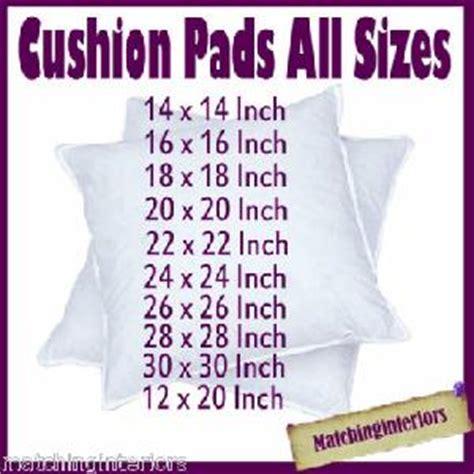 scatter cushion pads inserts fillers inners  sizes ebay