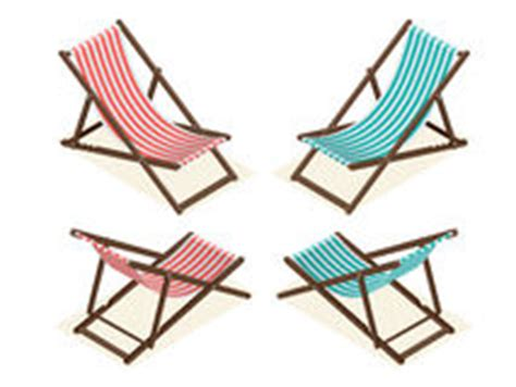 deck chair isolated on white vector stock vector image